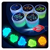 Tritart Fluoreszierendes Pulver Selbstleuchtend | 5 x 20g Nachtleuchtende Pigmente | Leuchtpulver...