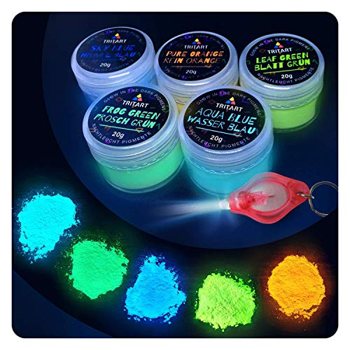 Nachleuchtende Night-Glow Pigmente 5 x 20g Set