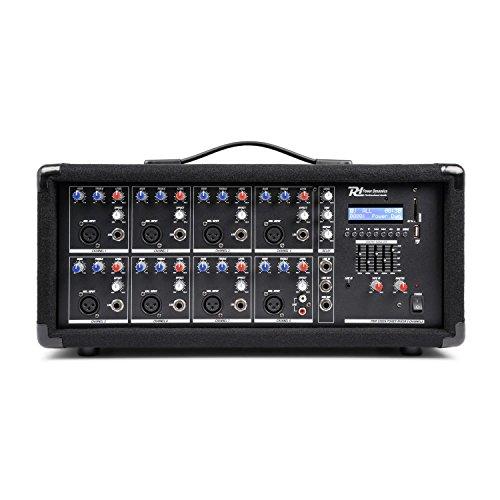 Power Dynamics PDM-C805A 8-Kanal-Mixer mit Verstärker, USB-und SD-Slot (8 Kanal Power Mixer)