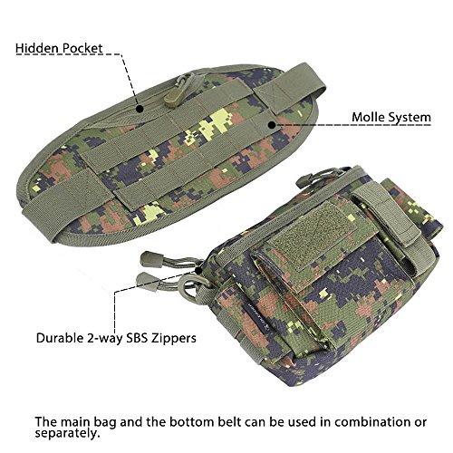 Oleader draußen Taktische Taille Rucksack Nylon Angelgerät Fanny Tasche Schulter tragen schick Tasche Riemen Ausrüstungs Tasche für Jagd Klettern Wandern Camping Jungle Digital