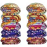 Zacharias Multicolor Printed Single Bed Fleece Blanket Set Of 10