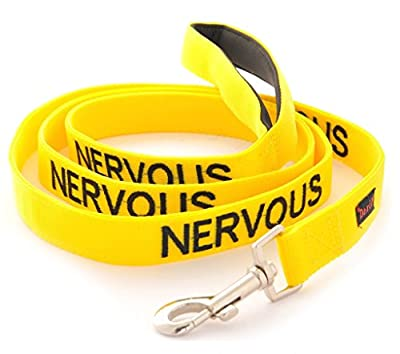 NERVOUS (Give Me Space) Yellow Colour Coded 60cm 1.2m 1.8m Luxury Neoprene Padded Handle Dog Leads PREVENTS Accidents By Warning Others Of Your Dog In Advance from Friendly Dog Collars