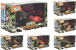 GLOBO, Animal Dino 2 Piezas W/Tree 6Asst (39108), Multicolor (1)