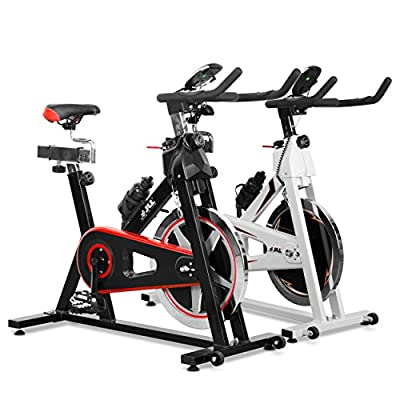 JLL® IC300 Indoor Exercise Bike 2016, Cardio Workout, 18KG Flywheel Smooth Cycling, Adjustable Handlebars & Seat, Heart Rate Sensors & On Board Computer reads Speed, Distance, Time, Calories + Pulse from JLL Fitness Ltd