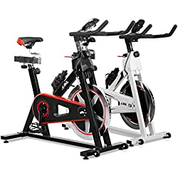 JLL® IC300 Indoor Exercise Bike 2018, Cardio Workout, 18KG Flywheel Smooth Cycling, Adjustable Handlebars & Seat, Heart Rate Sensors & On Board Computer reads Speed, Distance, Time, Calories + Pulse