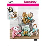 Simplicity US1603.OS Size OS Two Pattern Piece Animals