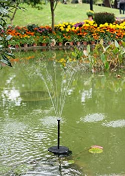 Solar Fountain Pump 2w - Floating Water Pump For Small Pond, Garden, Water Feature, Bird Bath 70 Cm Height By Pk Green 4