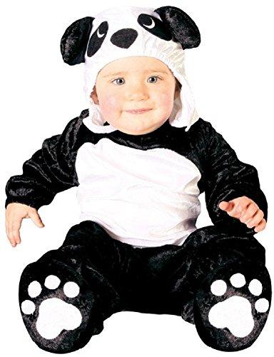 en Jungen Schwarz Weiß Pandabär Chinesisch Tier Kostüm Kleid Outfit - Schwarz/Weiß, 6-12 Months (Chinesische Kostüme Für Jungen)