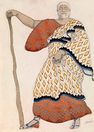 Bakst Kostüm Design für Thesus in Ödipus auf Kolonos 250gsm, Hochglanz, A3, vervielfältigtes Poster (Bakst Kostüm Designs)