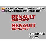 PEGATINAS RENAULT SPORT F74 VINILO ADESIVI DECAL AUFKLEBER RACING STICKERS CAR VOITURE (ROJO)
