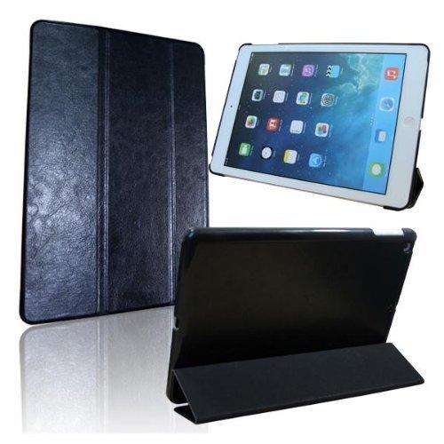 Noir Housse Etui Coque en Cuir PU Ultra Fin pour le Nouvel iPad Mini pleine fonction Veille. Gratuit Protecteur d'écran