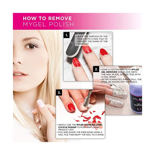 Esmalte de gel para uñas MyGel, de MYLEE (10ml) MG0015 – Californian Love UV/LED Nail Art Manicure Pedicure para uso…