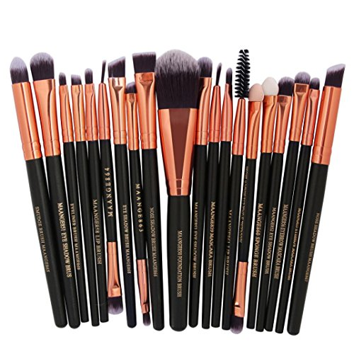 Makeup Kosmetik Pinsel Xinan 20Pc Makeup Pinsel Set Puder Fundament Lidschatten Eyeliner Lippenkosmetik Pinsel (❤️, E)
