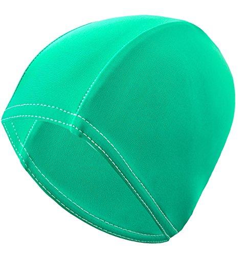 Gwinner Badekappe Schwimmkappe Damen - für lange Haare - elastisches Stretch-Material - Bathing Cap, Grün