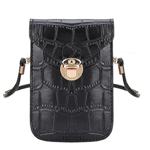 Preisvergleich Produktbild Dirndltasche/Damentasche Handytasche Handtasche/Umhängetasche Smartphone - Schwarz