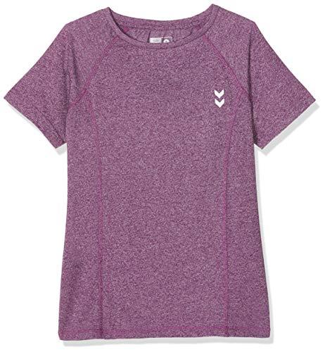 Hummel Mädchen HMLPITCH T-Shirt S/S, Grape Juice, 164