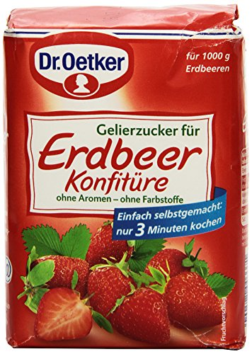 Dr. Oetker Gelierzucker für Erdbeer Konfitüre, 500 g