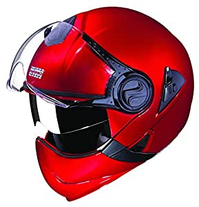 Studds Downtown SUS_DFFH_CREDL Full Face Helmet (Cherry Red, L)