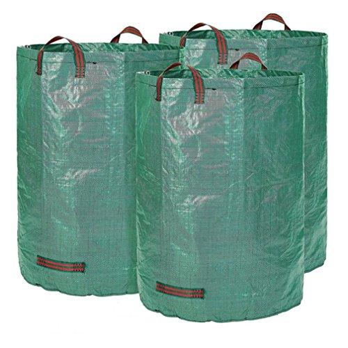 TAOtTAO 3 STÜCKE Gartensack Sack Set Blatt Tasche Garten abfall Tasche abfall Tasche 120L