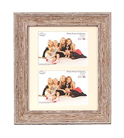 Inov8 British Made Picture/Photo Frame, 12x10 Dual Aperture with Two 7x5-inch Insets, Large Washed