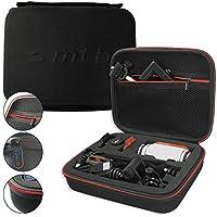 mtb more energy® Schutztasche XL für Garmin Virb Elite, X, XE / Contour Roam 3 / Ghost-S / TomTom Bandit uvm... - Schwarz - Koffer Case Stecksystem Modular