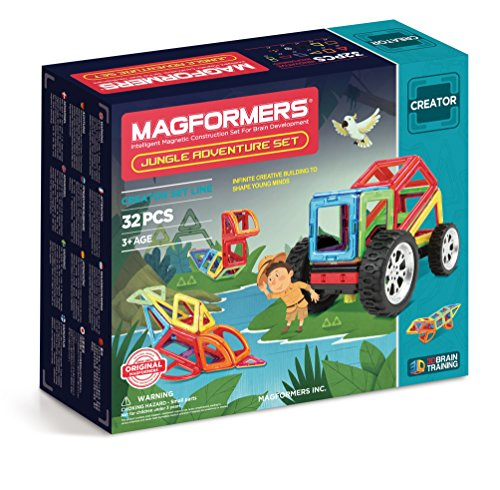Magformers - Adventure Jungle, 32 Set Magnetic Parts (703009)