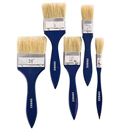 cogex-58034-pennello-piatto-5-pezzi
