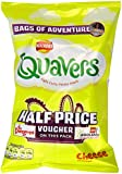 Walkers Quavers Cheese Snacks 20.5 g (Pack of 48)