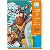 Djeco 599386031 - Cuadros metalizar vikingos