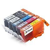 K-Ink kompatible Tintenpatronen Ersatz für HP 364 XL (5er Packung - 2 Schwarz, 1 Cyan, 1 Magenta, 1 Gelb)