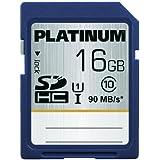 Platinum Carte mémoire SDHC UHS-I 600x Class 10 16 Go