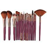 Neue 18 Stück Make-up Pinsel Set Werkzeuge Make-up Toilettenartikel Wolle Make-up Pinsel Set 19,5 * 13 * 2 cm (Lila)