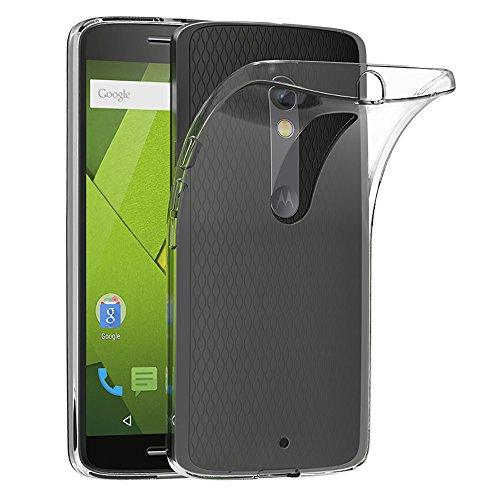 Coque Motorola Moto X Play, AICEK Etui Housse Motorola Moto X Play Mince Silicone Transparent Couqe pour Lenovo Moto X Play Coque de Protection en TPU avec Absorption de Choc Bumper et Anti-Scratch