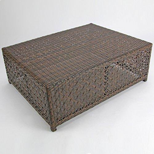Rattan4Life 4-teilig Florenz Deluxe Polyrattan Gartenmöbel Set, Sofa / Lounge / Gartengarnitur / Kissenbezug, braun / mix / türkis - 5