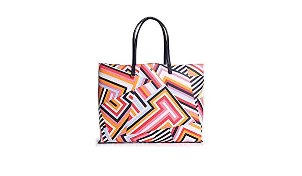 30dff91bd6be Buy Tory Burch Kerrington Square Tote in Cut Out T Print Online at Low  Prices in India - Amazon.in