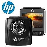"HP Dashcam Cámara de Coche Full HD 1296p Cámara para Coche Videocámara DVR G-Sensor, Ciclo de Grabación, Visión Nocturna, 2.4 ""LCD gran ángulo coche Dashboard Camera Grabadora"