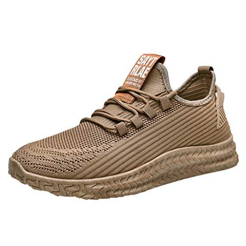 Briskorry Herren Sneaker Gittergewebe Beiläufig Sportschuhe Schnüren Atmungsaktiv Weicher Boden Turnschuhe Outdoorschuhe Leichtathletikschuhe Wanderschuhe