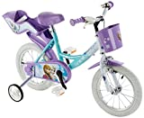 Disney Mädchen Frozen Fahrrad mit Metallkugellagern für Kinder, Weiß/Lila/Hellblau, 14 Zoll, 146RSK FZ