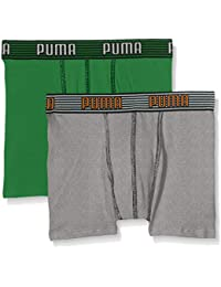 Puma Unterhose Elastic Striped Basic Boxer 2P Varios colores amazon green Talla:164