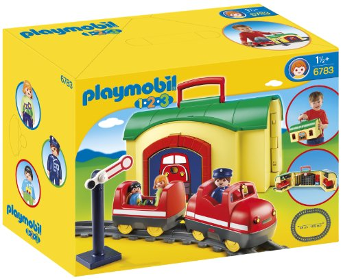 Playmobil 1.2.3 - Tren maletín 6783