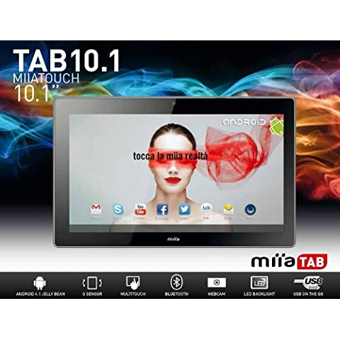 MiiaTab RK3066 Tablet 16 GB, 10.1 Pollici, Android 4.1 Jelly Bean, Argento - Argento Bean