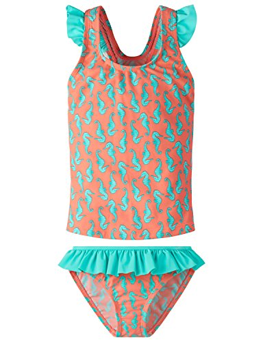 Rio-bügel-bikini (Schiesser Mädchen Seepferdchen Selina Tankini Badebekleidungsset, Gelb (Apricot 603), 98 (Herstellergröße: 098))