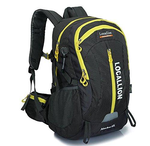 ROBAG Outdoor-Bergsteigen Tasche große Kapazität Rucksack Rucksack Männer und Frauen zu Fuß wasserdicht black