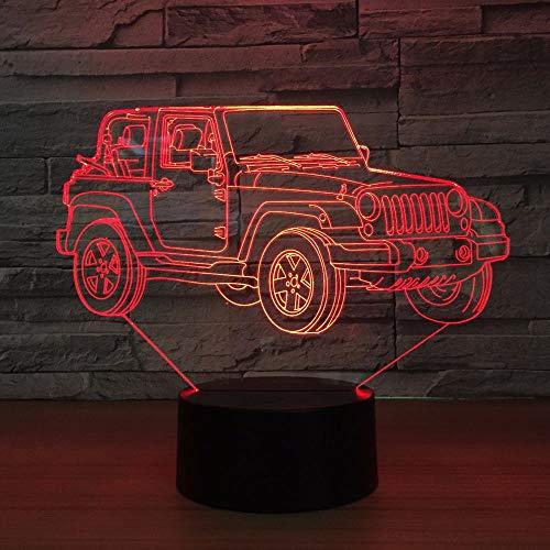 Kran LKW Hebebühne Auto 3D USB LED Nachtlicht AA Batterieleistung 7 Farbdia Licht Touch oder Fernbedienung Kind Schlafzimmer Licht ## 6