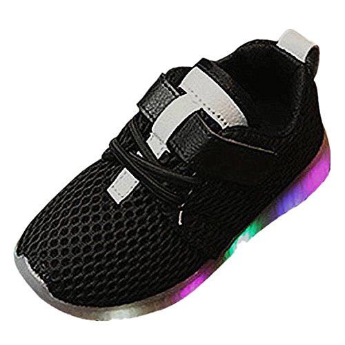 FNKDOR Baby Jungen Mädchen Kinder LED Blinken Schuhe Sneakers Sportschuhe