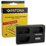PATONA Triple Lader für Canon LP-E6, EOS 5D, 60D, 60Da, 6D, 7D, EOS 70D, kompaktes Akku-Ladegerät mit USB Type C Kabel