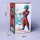 Anime Dragon Ball Z Son Goku Vegeta Fusión Gogeta Figura de acción Gohan Padre Super Saiyan Figuración de Chocolate DBZ Modelo 21c, Cabello Azul