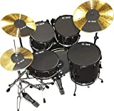 Vic Firth Rock Version Drum and Cymbal Mute Pad Set: 12', 13', 14', 16', 22' Drum Pads Plus Hi-hat and 2 x Cymbal pads