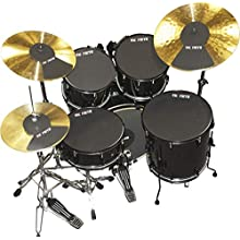 """Vic Firth 22 Inch Fusion Drum and Cymbal Mute Pad Set: 10"""", 12"""", 14""""(x2), 22"""" Drum Pads Plus Hi-hat and 2 x Cymbal Pads"""