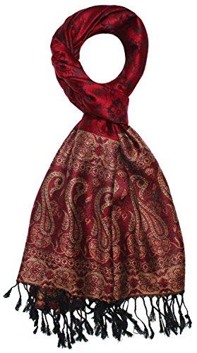 LORENZO CANA Designer Pashmina hochwertiger Marken Schal jacquard gewebtes Paisley Muster 70 x 180 cm Modal harmonische Farben Schaltuch Schal Tuch 9322611